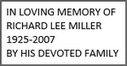 Family of Richard Lee Miller